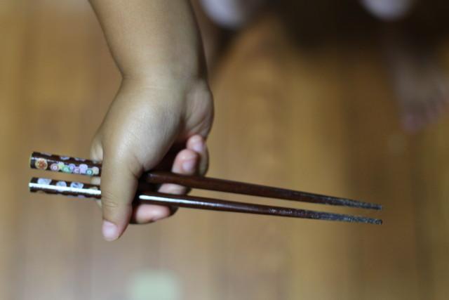 正しい箸の持ち方