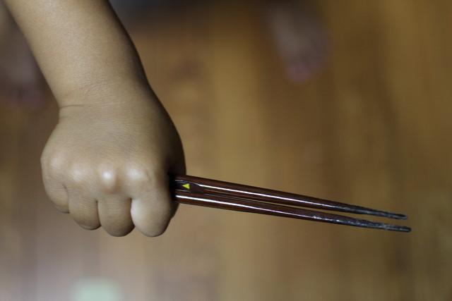 箸の握り方1