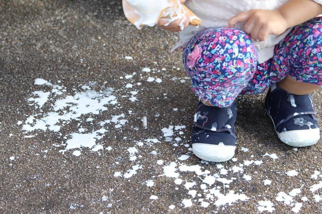 溶けたソフトクリーム