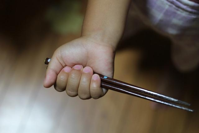 箸の握り方2