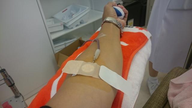 献血中3度目