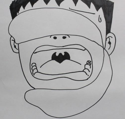 歯医者顔面タオル