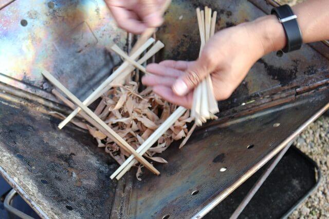 焚き付けと割り箸セット