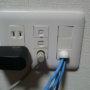 LANケーブル用壁面コンセントは意外と高価!安く壁穴を塞ぐ方法